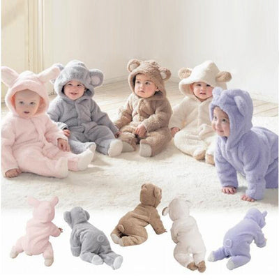 Hooded Baby Rompers