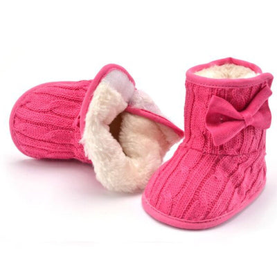 Butterfly-Knot Fluffy Boots