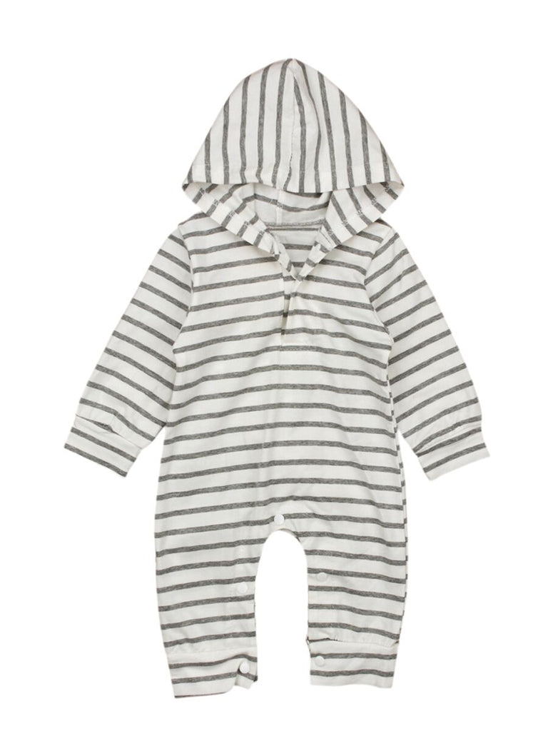 Gray Stripes Bodysuit