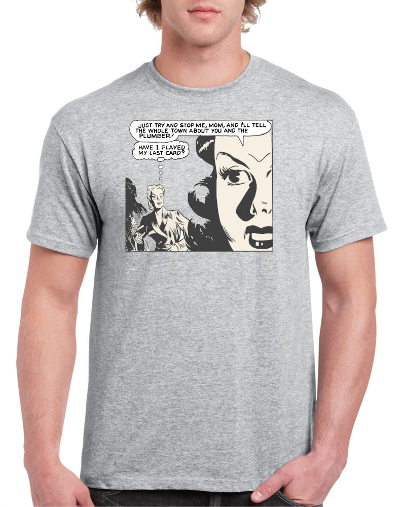 You And The Plumber Light Grey Cotton Men's / Unisex T-Shirt
