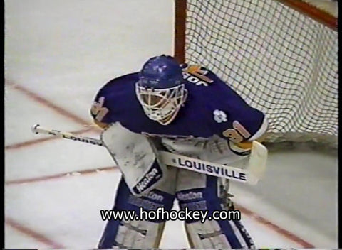 January 31, 1990 St. Louis Blues - 2 @ New York Rangers - 2 Curtis Joseph Bernie Nicholls