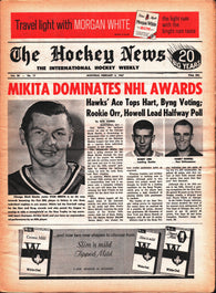 February 4, 1967 The Hockey News Volume 20 No. 17 Stan Mikita Bobby Orr Harry Howell Johnny Bucyk