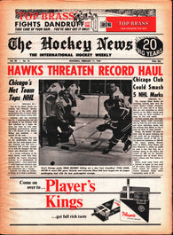February 11, 1967 The Hockey News Volume 20 No. 18 Chicago Black Hawks Denis DeJordy Ed Westfall