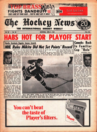 April 8, 1967 The Hockey News Volume 20 No. 26 Stan Mikita Henri Richard Denis DeJordy