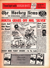 April 29, 1967 The Hockey News Volume 20 No. 29 Bobby Orr NHL Awards Stan Mikita