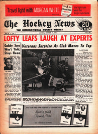 December 10, 1966 The Hockey News Volume 20 No. 9 Bobby Baun Bill Gadsby Butch Goring Terry Sawchuk