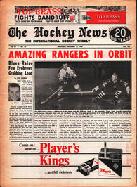 December 17, 1966 The Hockey News Volume 20 No. 10 Rod Gilbert Red Kelly Stan Mikita Ed Giacomin
