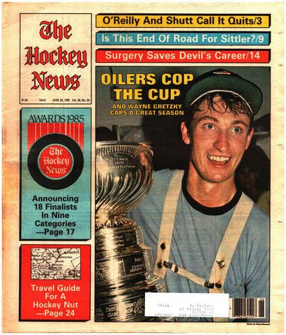June 28, 1985 The Hockey News Vol. 38 No. 34 Wayne Gretzky Steve Shutt Edmonton Oilers Darryl Sittler