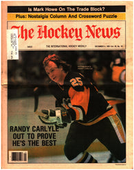 December 4, 1981 The Hockey News Volume 35 No. 10 Issue Randy Carlyle Mark Howe Jari Kurri