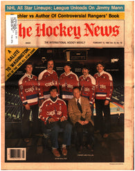 February 12, 1982 The Hockey News Volume 35 No. 19 Issue Washington Capitals Ron Francis Clark Gillies