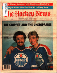 February 19, 1982 The Hockey News Volume 35 No. 20 Issue Wayne Gretzky Grant Fuhr Mike Bossy