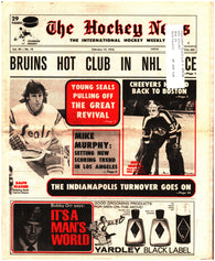February 13, 1976 The Hockey News Issue Volume 29 No. 18 California Seals Gerry Cheevers Boston Bruins