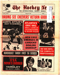 February 27, 1976 The Hockey News Issue Volume 29 No. 20 Darryl Sittler Gerry Cheevers Marc Tardif