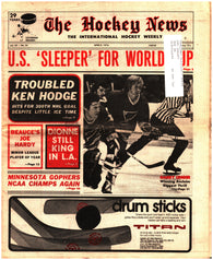 April 9, 1976 The Hockey News Issue Volume 29 No. 26 Garry Unger Marcel Dionne Ken Hodge World Cup