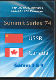 September 6, 1972 Game Four USSR - 4 @ Canada - 4 Tony Esposito PLUS Game Three 2 DVD SET