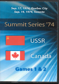 September 2, 1972 Game One USSR - 7 @ Canada - 3 Ken Dryden Phil Esposito PLUS Game Two 2 DVD SET