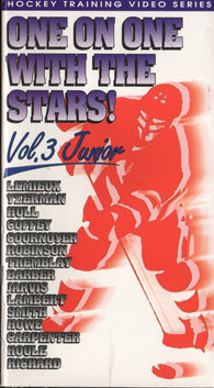 One on One with the Stars VHS Tape Volume 3 Mario Lemieux Steve Yzerman Paul Coffey Bill Barber