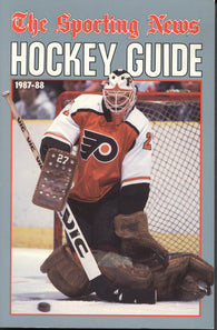 1987-88 NHL Sporting News Hockey Guide Book Ron Hextall Philadelphia Flyers Dale Hawerchuk