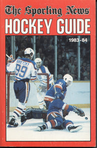 1983-84 NHL Sporting News Hockey Guide Book Wayne Gretzky Edmonton Oilers Billy Smith