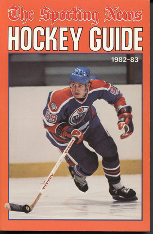 1982-83 NHL Sporting News Hockey Guide Book Wayne Gretzky Edmonton Oilers Dale Hawerchuk