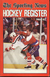 1984-85 Sporting News NHL Register Book Rod Langway Tom Barrasso Mark Messier Guy Lafleur
