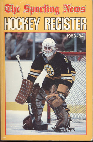 1983-84 Sporting News NHL Register Book Pete Peeters Wayne Gretzky Darryl Sittler Lanny McDonald