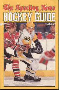 1988-89 NHL Sporting News Hockey Guide Book Mario Lemieux Pittsburgh Penguins Ray Bourque