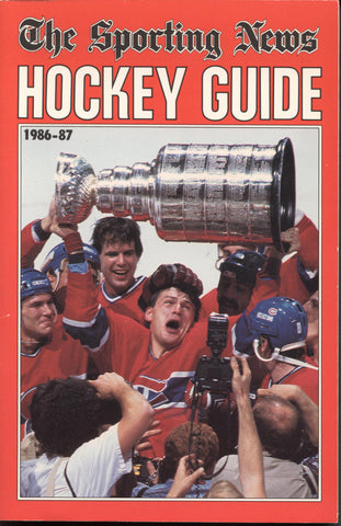 1986-87 NHL Sporting News Hockey Guide Book Claude Lemieux Montreal Canadiens Mike Bossy