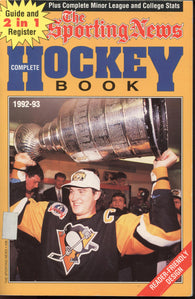 1992-93 Sporting News NHL Complete Hockey Book Mario Lemieux Jeremy Roenick Mark Messier