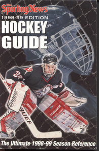 1998-99 NHL Sporting News Hockey Guide Dominik Hasek NHL Minors Juniors College Stats