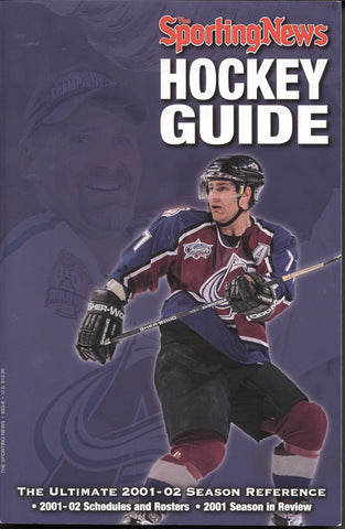 2001-02 NHL Sporting News Hockey Guide Ray Bourque NHL Minors Juniors College Stats