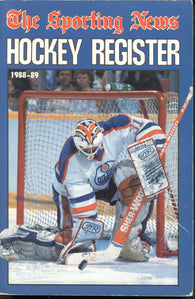 1988-89 Sporting News NHL Register Book Grant Fuhr Joe Nieuwendyk Dale Hawerchuk Steve Yzerman
