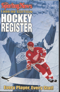 1998-99 Sporting News NHL Register Book Steve Yzerman Nicklas Lidstrom Brett Hull