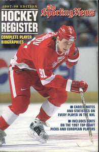 1997-98 Sporting News NHL Register Book Sergei Fedorov Eric Lindros Patrick Roy