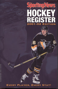 2001-02 Sporting News NHL Register Book Mario Lemieux Scott Stevens Adam Oates Joe Nieuwendyk