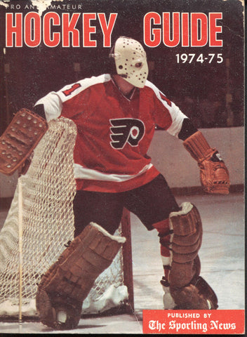 1974-75 NHL Sporting News Hockey Guide Bernie Parent Rod Gilbert Denis Potvin Philadelphia Flyers