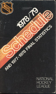 1978-79 NHL Schedule and 1977-78 Final Statistics Guide Montreal Canadiens Boston Bruins