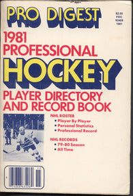 1980-81 NHL Pro Digest Professional Hockey Player Directory and Record Book