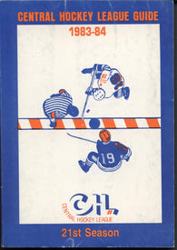 1983-84 Central Hockey League Guide Book History Statistics Trophy Winners