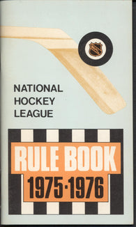 1975-76 NHL Hockey Rule Book Guide