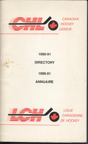 1990-91 Canadian Hockey League Guide Book World Juniors Teams Schedules CAHA NHL