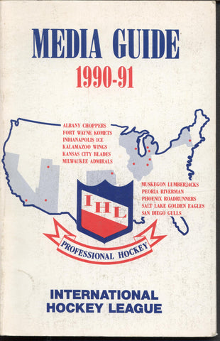 1990 91 International Hockey League Guide Book Statistics History