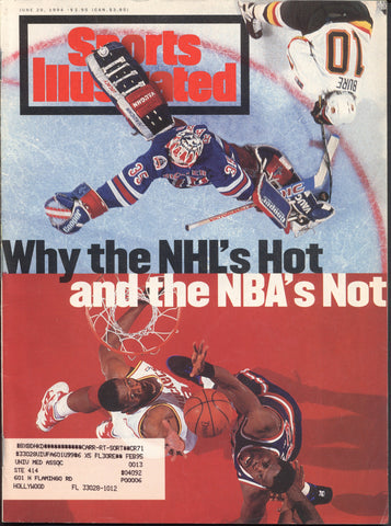 June 20, 1994 Sports Illustrated Magazine NHL Pavel Bure Mike Richter
