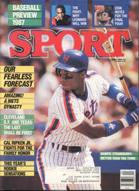 April 1987 Sport Magazine MLB Darryl Strawberry New York Mets Baseball Preview