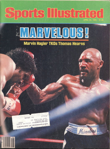 April 22, 1985 Sports Illustrated Magazine Boxing Marvin Hagler Thomas Hearns
