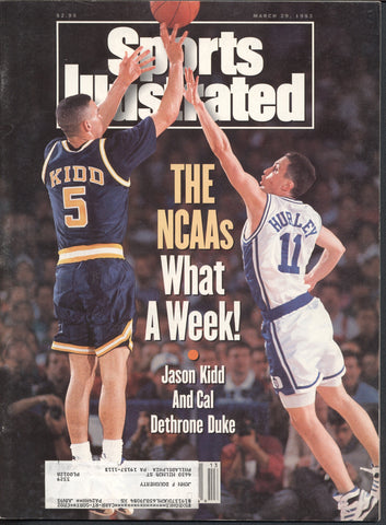 March 29, 1993 Sports Illustrated Magazine MLB NFL NBA NCAA Basketball Jason Kidd