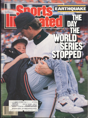 October 30, 1989 Sports Illustrated Magazine MLB NFL World Series Earthquake