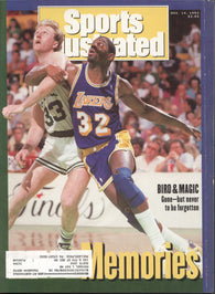 December 14, 1992 Sports Illustrated Magazine Larry Bird Magic Johnson Dennis Byrd NCAA Basketball