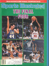 March 31, 1986 Sports Illustrated Magazine The Final Four Washington Capitals Reggie Jackson