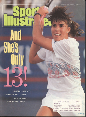 March 19, 1990 Sports Illustrated Magazine Jennifer Capriati NHL Patrick Division Kurt Rambis